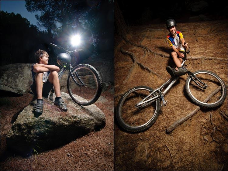 Sesión fotos deportes bici trial
