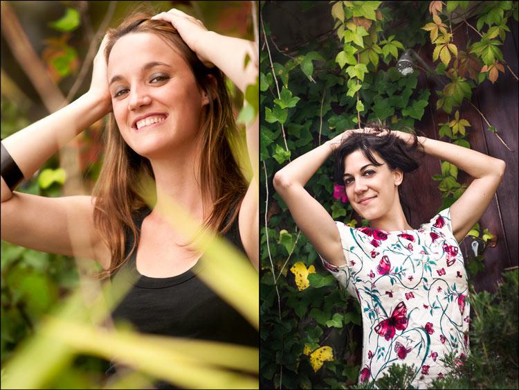Sesión Fotos con Gina y Eva para Book by MiraiStudio en un ático de Barcelona