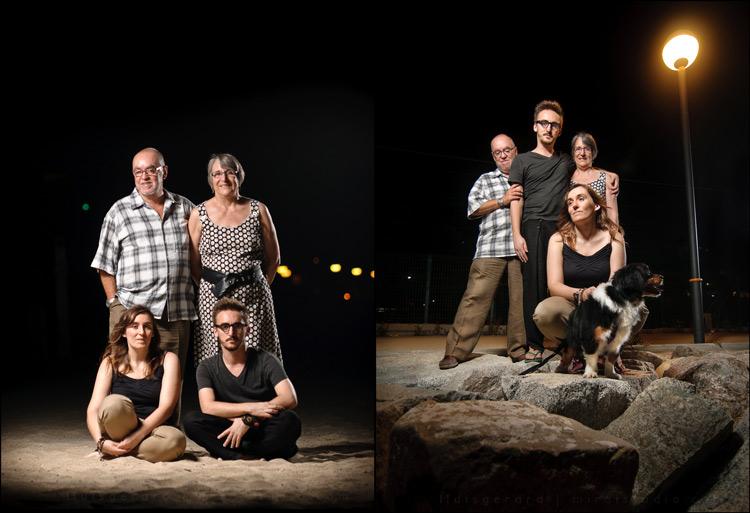 sesión strobist, dos fotos familiares en vertical